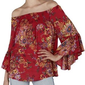 Beachlunchlounge Floral Smocked Top
